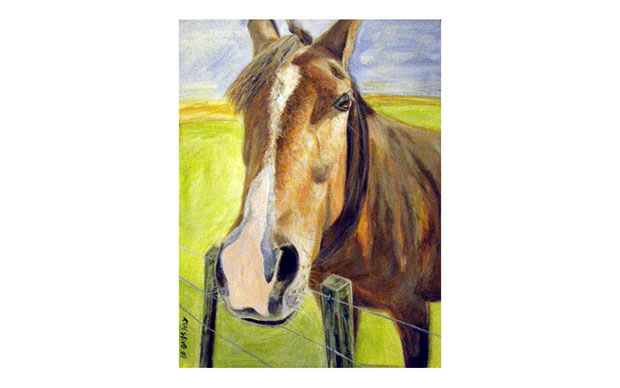 horse painting image
