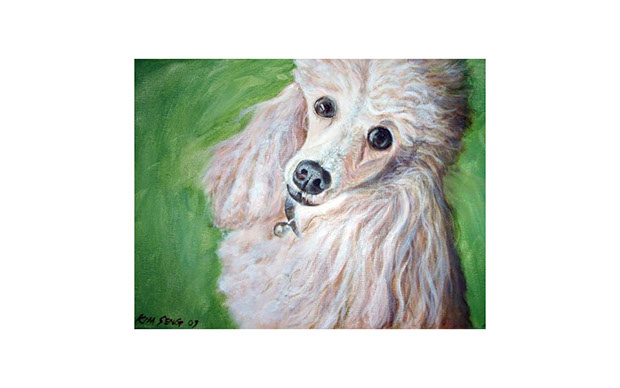 Poodle painting image